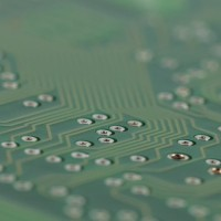 PCB board in 3D view