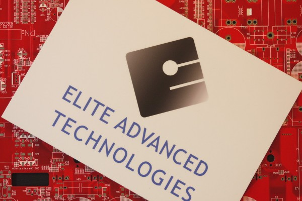 Logo elite Advanced Technologies on a printed circuit board
